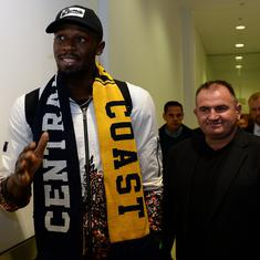 Usain Bolt to continue football career in Australia after turning down offer Maltese contract