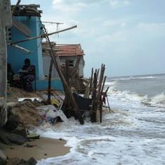 A Chennai fishing hamlet is the latest victim of coastal erosion in Tamil Nadu