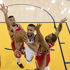 Western Conference finals: Stephen Curry powers Warriors to emphatic win over Rockets