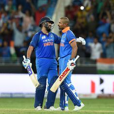 Rohit Sharma, Shikhar Dhawan jump to second and fifth position in ICC ODI Players' rankings