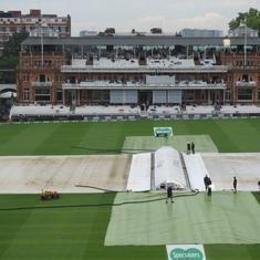England v India, second Test: Play washed out on day one without a ball being bowled