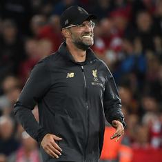Liverpool manager Jurgen Klopp charged over wild celebrations after Merseyside derby win