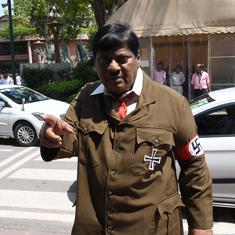 TDP MP attends Parliament dressed as Adolf Hitler to demand special status for Andhra Pradesh