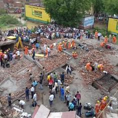 Uttar Pradesh: One killed, some injured as five-storey building collapses in Ghaziabad