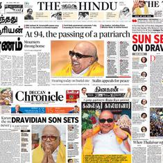 'Dravidian son sets': What newspapers said on Karunanidhi's death