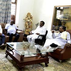 कर्नाटक : बैठक में चार विधायकों के न आने से कांग्रेस की चिंता बढ़ी