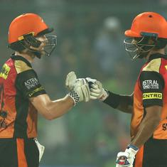 Williamson-Dhawan's 176-run stand overshadows Pant's heroics, sends SRH to play-offs
