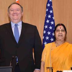 भारत-अमेरिका की 2+2 वार्ता का चीन ने स्वागत किया लेकिन रक्षा समझौते पर कोई प्रतिक्रिया नहीं दी