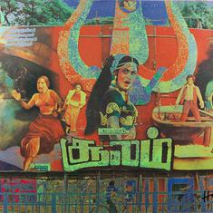 MF Husain's photographs of film hoardings will take you back to Chennai of 1980s