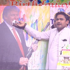 Watch what happens when The Daily Show discovers the Hindu Sena celebrated Donald Trump's birthday