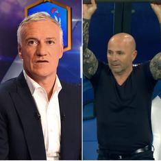 Tactical tussle: Deschamps's underwhelming France face Sampaoli's unpredictable Argentina