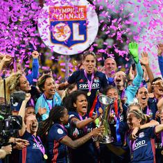 Lyon win third straight women's Champions League after four goals in extra time