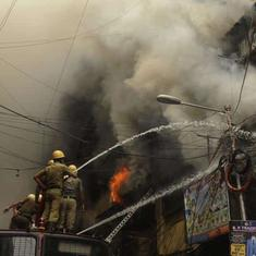 Kolkata: Fire at Bagri Market rages on over 30 hours after breaking out