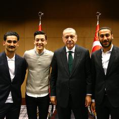 Turkish president Recep Tayyip Erdogan praises Mesut Ozil's decision to retire from Germany