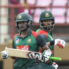 Tamim, Shakib's double-century stand guides Bangladesh to 48-run win over West Indies