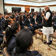 प्रधानमंत्री नरेंद्र मोदी ने एशियाई खेलों के पदक विजेताओं से मुलाकात की