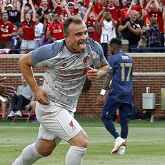 International Champions Cup: Shaqiri shines in debut as Liverpool rout United