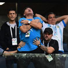 Maradona's antics at the World Cup leave Argentines torn between love and indifference for the star