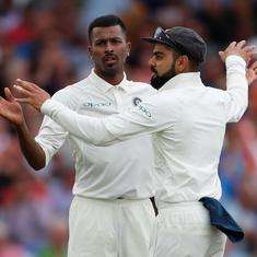 Hardik Pandya's five-wicket haul puts India in control of third Test