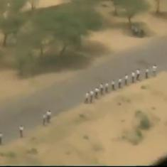 Watch: A 700-km human chain was formed near the Indo-Pak border in Rajasthan before Independence Day