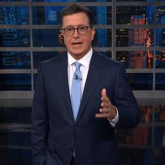 Watch: Stephen Colbert points out the irony of Donald Trump's calling Germany a captive of Russia