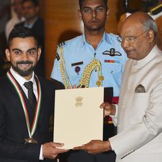 राष्ट्रीय खेल पुरस्कार 2018 : विराट कोहली और मीराबाई चानू राजीव गांधी खेल रत्न से सम्मानित