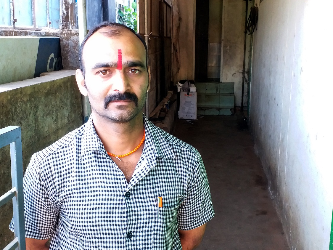 Dali, Kuttappa's son near his shop in Madikeri. Photo: Sruthisagar Yamunan