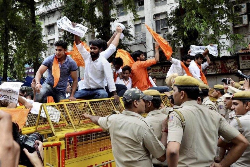 ABVP protest in Bangalore in February. Credit: PTI