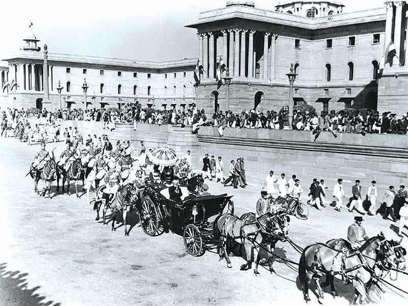 The first Republic Day celebrations in India in 1950. (Credit: Wikimedia Commons)