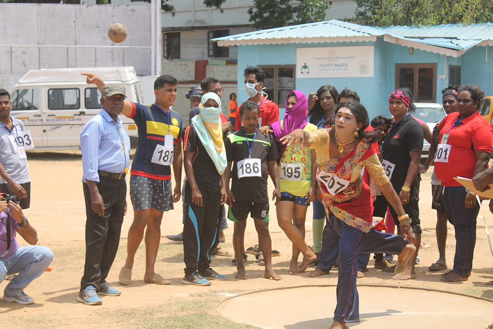 The first-ever transgender sports meet in Thiruvananthapuram. Photo credit: Makepeace Sitlhou