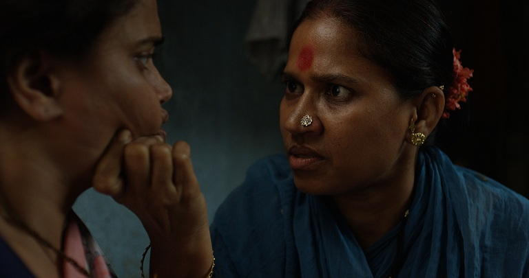 Kalyanee Mulay and Chhaya Kadam in Nude (2018). Image credit: Zee Studios.