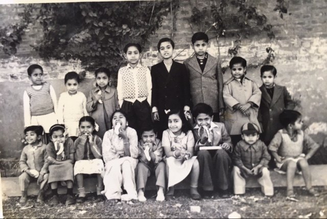 The author and her friends in Modinagar, Uttar Pradesh, in the 1950s.