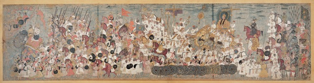 A Deccani painting of the procession of Abdullah Qutb Shah. Photo courtesy: CSMVS
