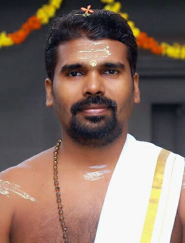 Vishnu Narayanan, the Ezhava priest. (Photo credit: Special arrangement).