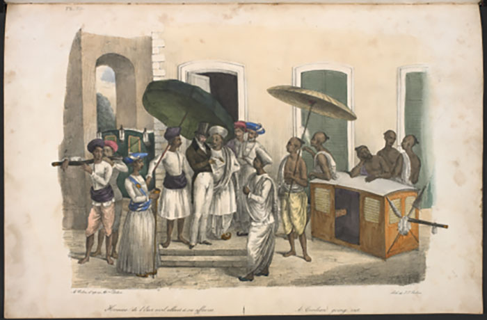 'A civilian going out' from Twenty four plates illustrative of Hindoo and European manners in Bengal (1781.b.18 plate 23) Images Online