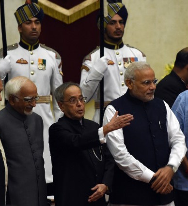 President Pranab Mukherjee's term comes to an end in July and the hunt for a successor is on. (Photo credit: Prakash Singh / AFP)