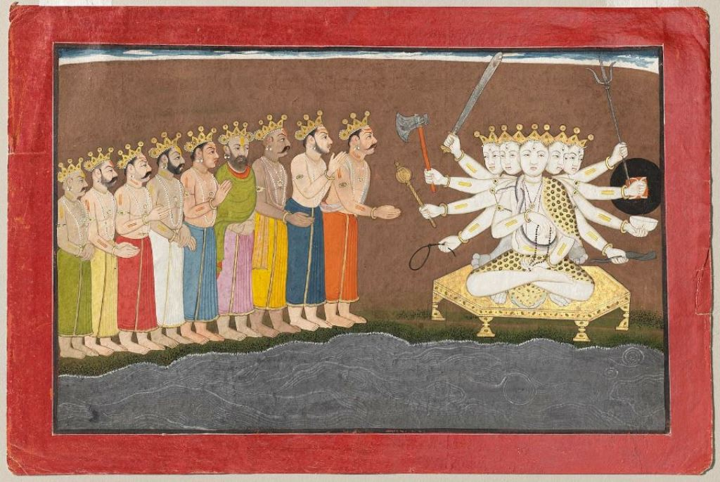 The Prachetasas pay homage to Sadashiva: singing of the rudra-gita. Image credit: Museum of Fine Arts/Wikimedia Commons [Public Domain]