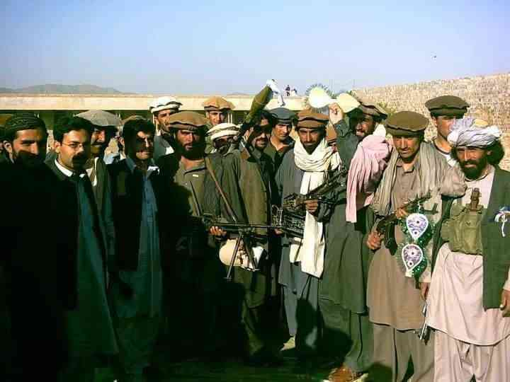 With Taliban militants in South Waziristan after a peace agreement between the Taliban and security forces. Photo credit: Owais Tohid