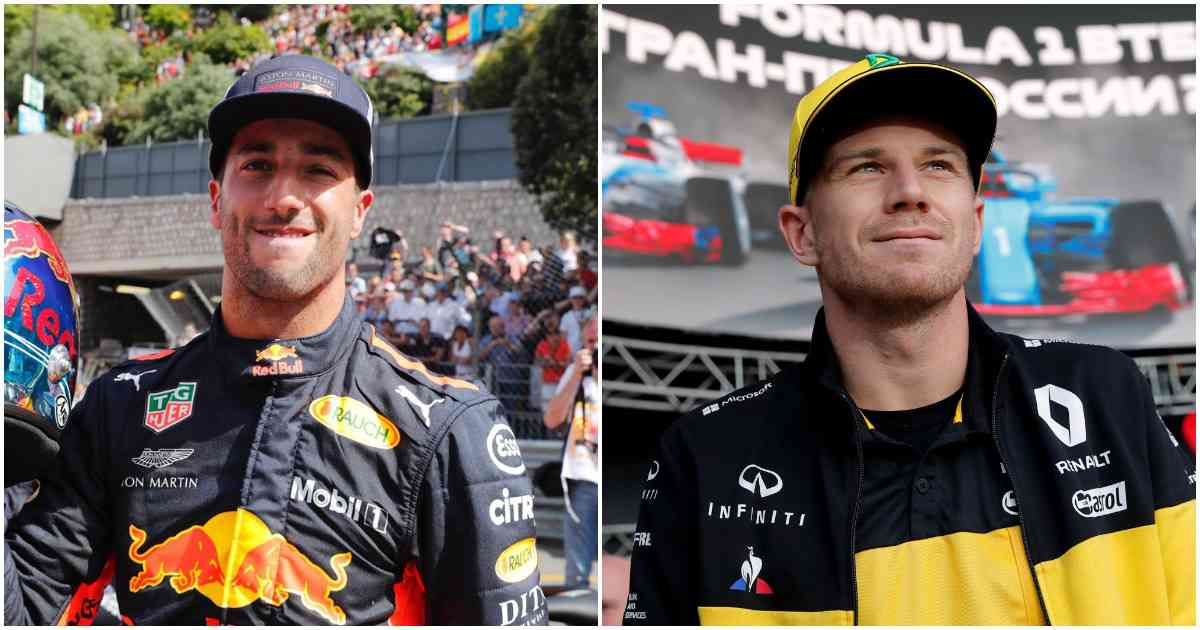 Daniel Ricciardo (L) and Nico Hulkenberg - AFP and Reuters