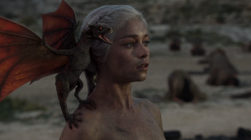 Daenerys (Emila Clarke) in Fire and Blood, season 1 episode 10 (2011). Courtesy HBO.