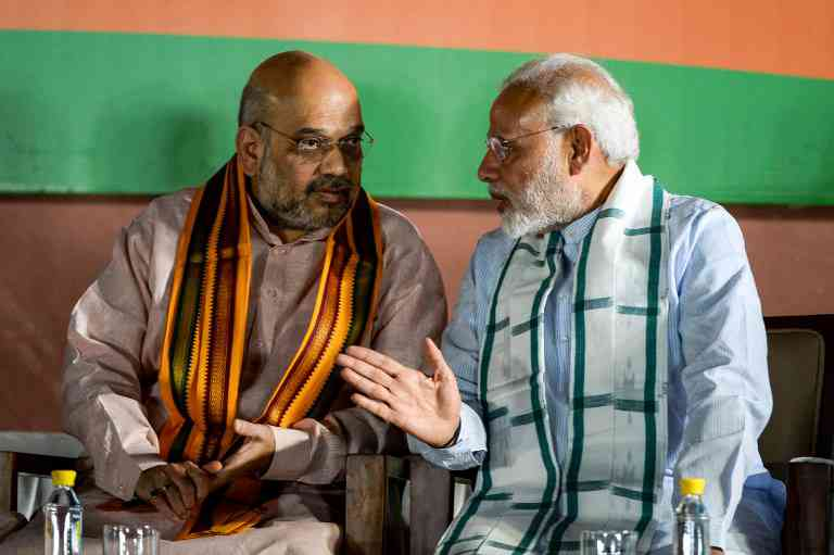BJP President Amit Shah and Prime Minister Narendra Modi. Credit: AFP