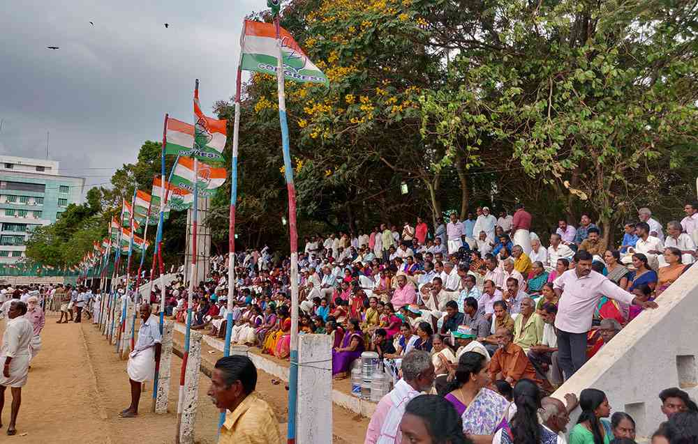 A Congress rally in Thiruvananthapuram. Photo credit: TA Ameerudheen