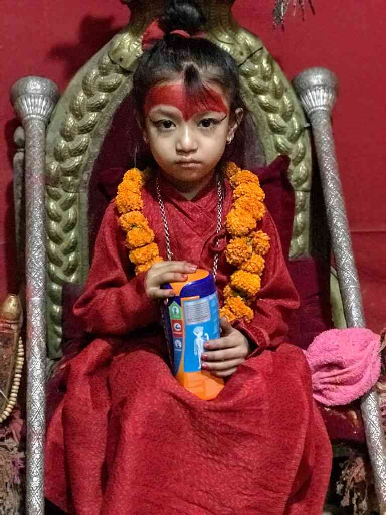 The Kumari is not a dakini, although she could be. Photo credit: Shoba Narayan.