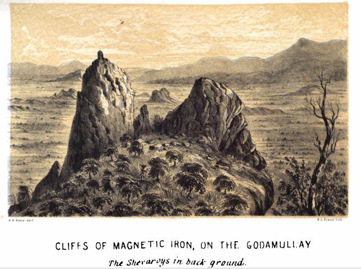 A sketch by Robert Foote. Credit: Geological Survey of India