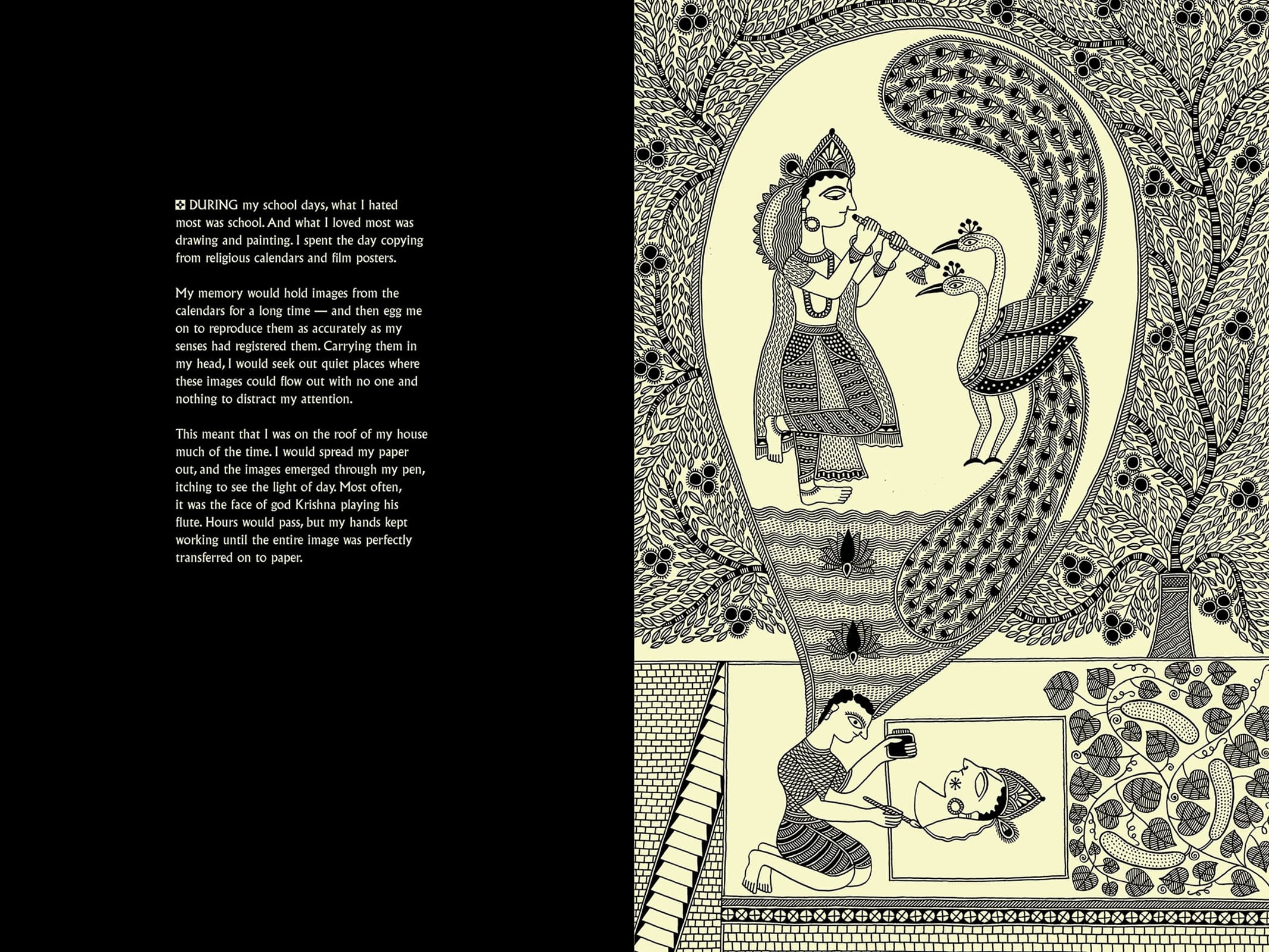 A page from 'Black: An Artist's Tribute', by Santosh Das Gupta (Image courtesy: Artisans').