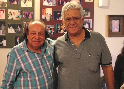 Roshan Taneja and Om Puri. Image credit: Bloomsbury.