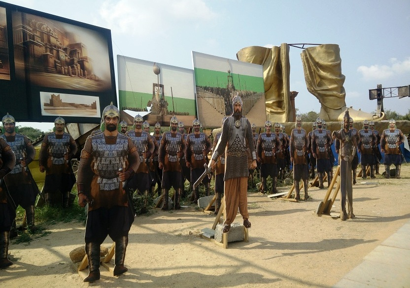 Cutouts of characters from Baahubali. Photo by Archana Nathan.