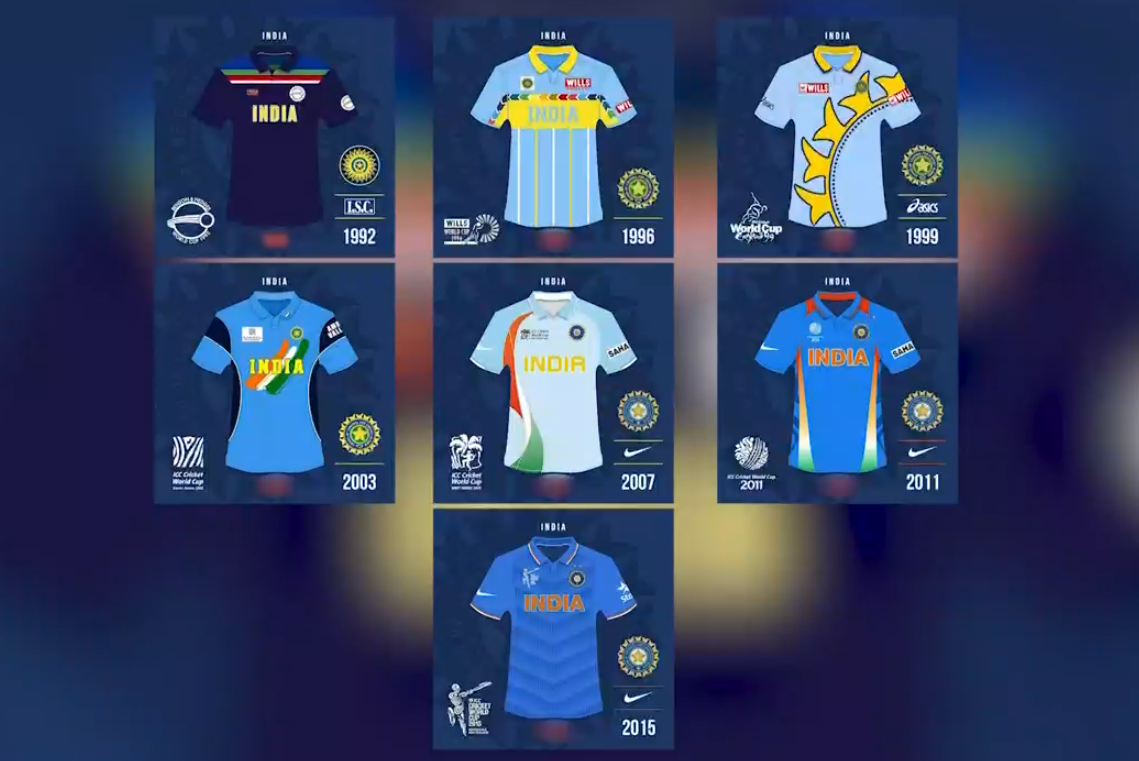 fe17a5996a9 Cricket World Cup 2019  A look at India s jerseys over the years