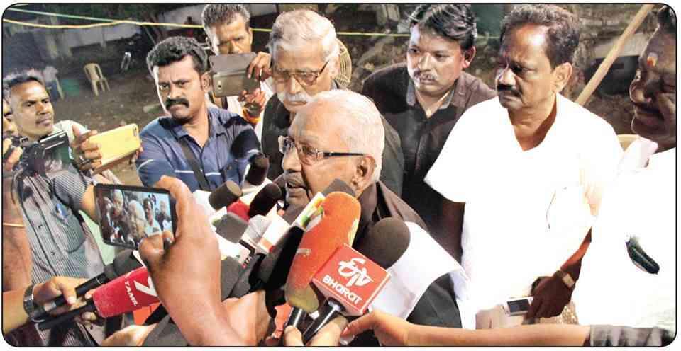 Dravidar Kazhagam president AK Veeramani. Credit: AK Veeramani via Facebook