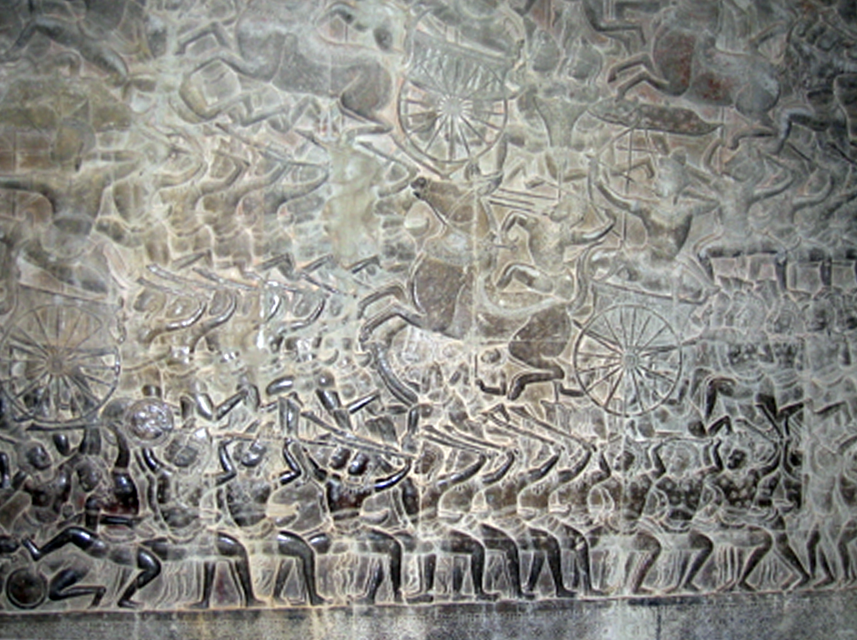 Bas relief showing a battle scene from Mahabharata. Photo credit: Smita Dutta Makhija